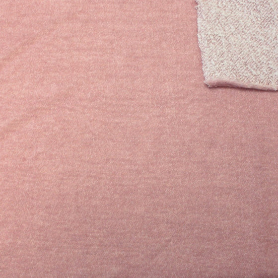 Dusty Mauve Brushed Heathered French Terry Knit Fabric - Raspberry Creek Fabrics