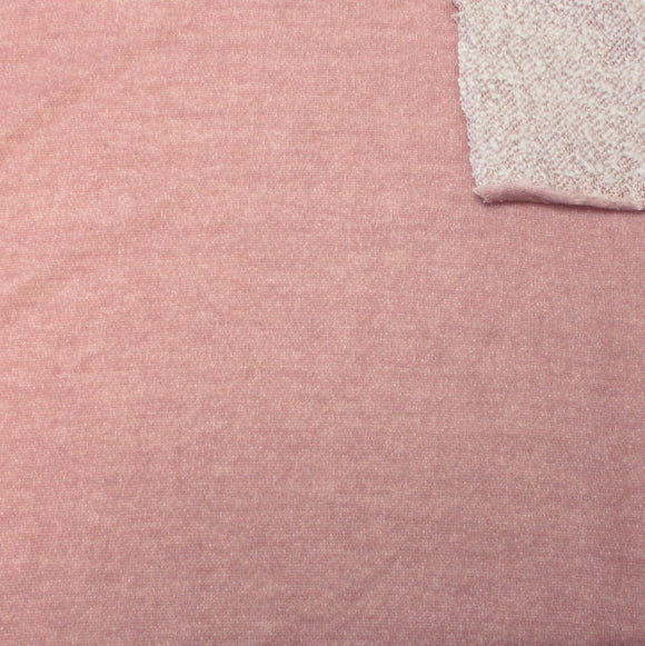 Dusty Mauve Brushed Heathered French Terry Knit Fabric, 1 Yard - Raspberry Creek Fabrics