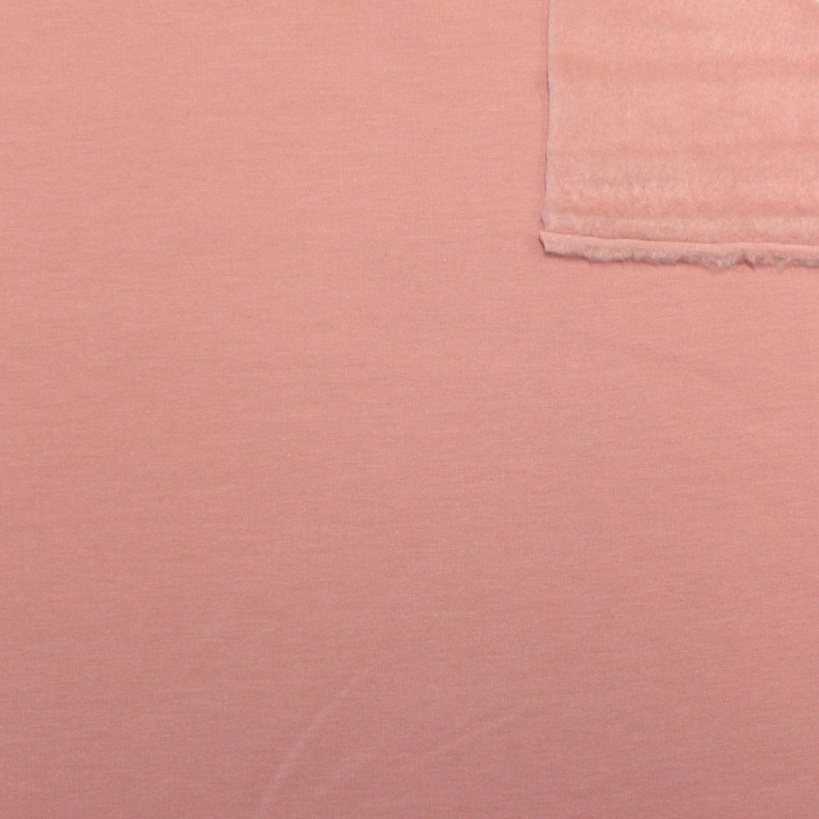 Solid Dusty Rose Lyocell Organic Cotton Spandex 4 Way Stretch Sweatshirt Fleece, 1 Yard