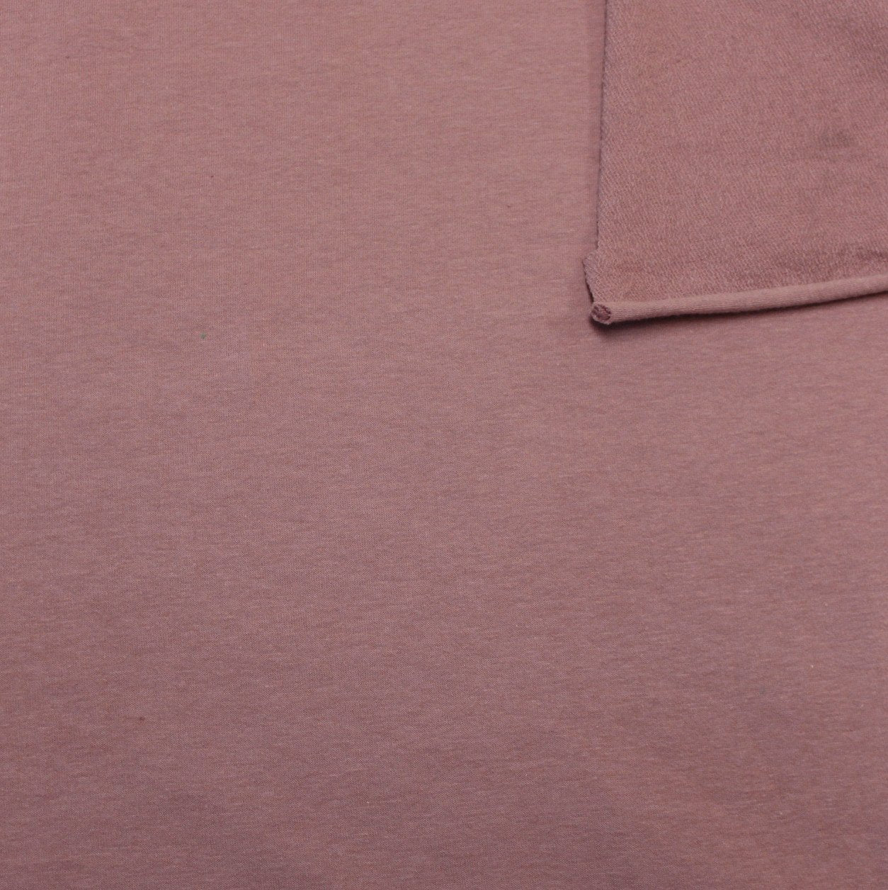 Solid New Mauve 4 Way Stretch French Terry Knit Fabric With Spandex - Raspberry Creek Fabrics Knit Fabric