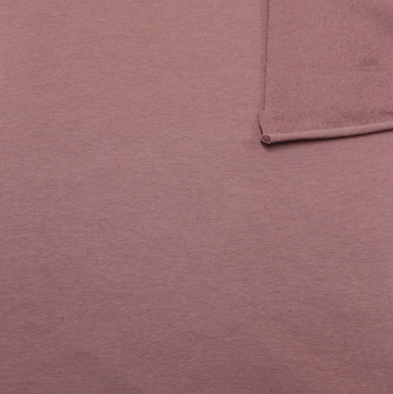 Solid New Mauve 4 Way Stretch French Terry Knit Fabric With Spandex, 1 Yard - Raspberry Creek Fabrics