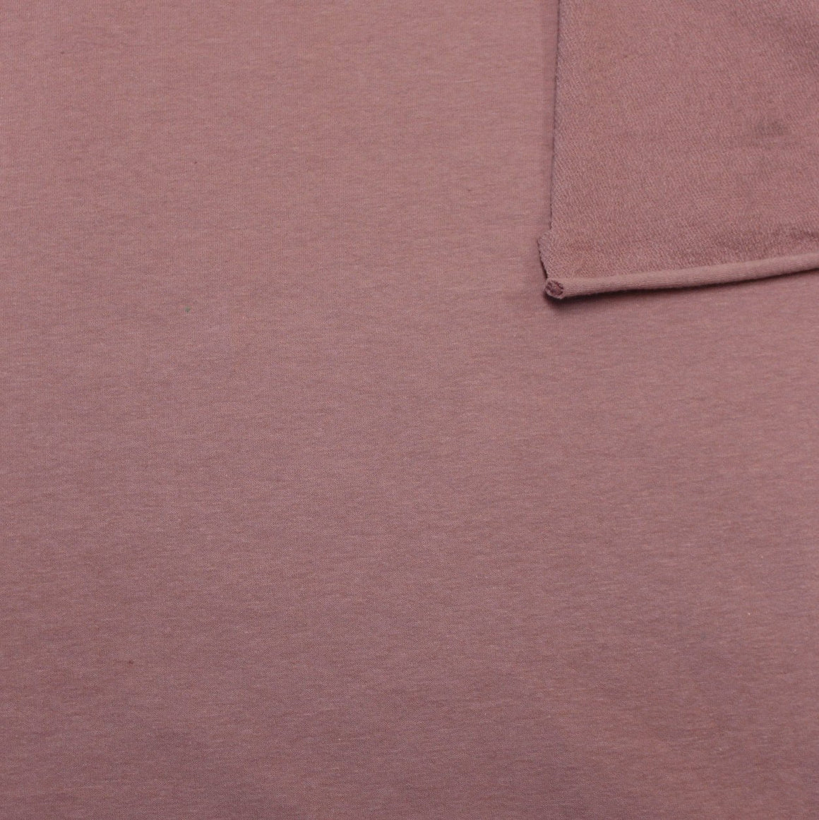 Solid New Mauve 4 Way Stretch French Terry Knit Fabric With Spandex, 1 Yard PRE-ORDER - Raspberry Creek Fabrics