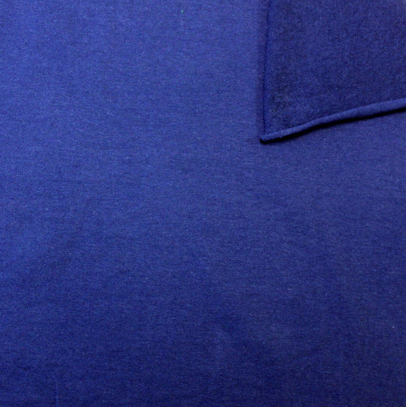 Solid Royal Blue 4 Way Stretch French Terry Knit Fabric With Spandex - Raspberry Creek Fabrics