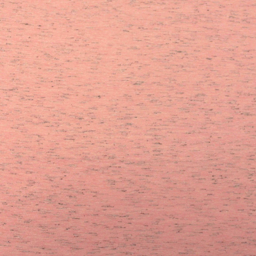 Heathered Coral Cotton Poly Jersey Knit Fabric - Raspberry Creek Fabrics