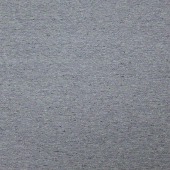 Light Denim Blue Heathered Cotton Poly Jersey Knit Fabric, 1 Yard - Raspberry Creek Fabrics