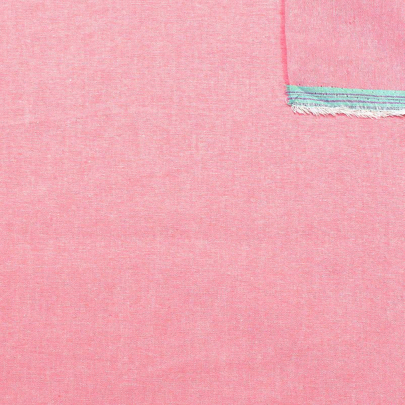 Salmon Pink Light to Medium Weight Chambray - Raspberry Creek Fabrics