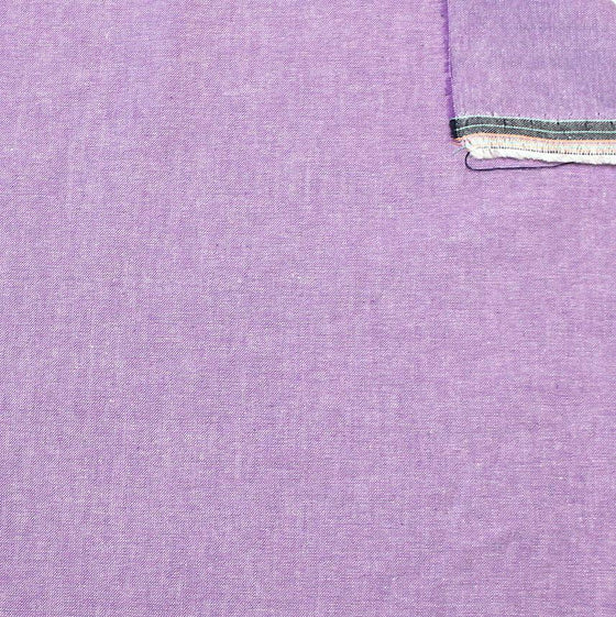 Lilac Purple Light to Medium Weight Chambray - Raspberry Creek Fabrics
