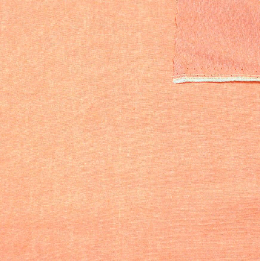 Bright Peach Light to Medium Weight Chambray - Raspberry Creek Fabrics