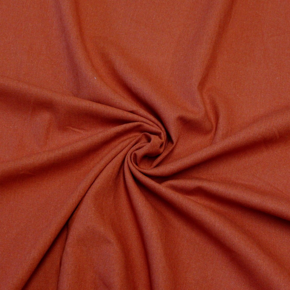 Rust Medium Weight Rayon Linen - Raspberry Creek Fabrics Knit Fabric