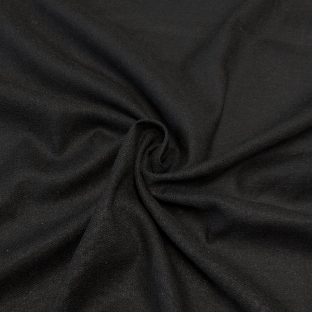 Black Medium Weight Rayon Linen - Raspberry Creek Fabrics