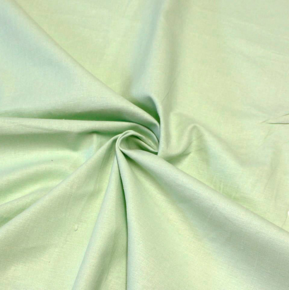 Mint Green Medium Weight Stretch Linen - Raspberry Creek Fabrics Knit Fabric