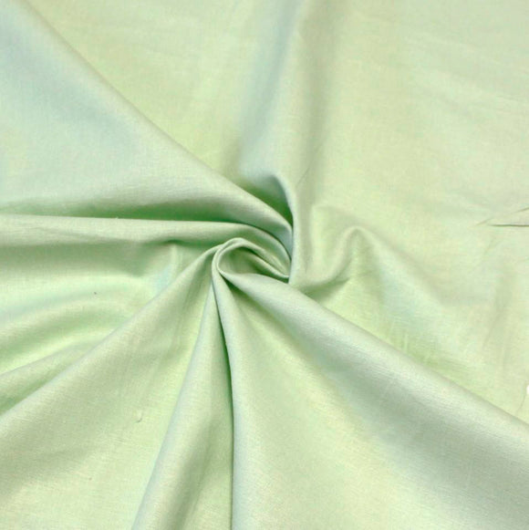 Mint Green Medium Weight Stretch Linen - Raspberry Creek Fabrics