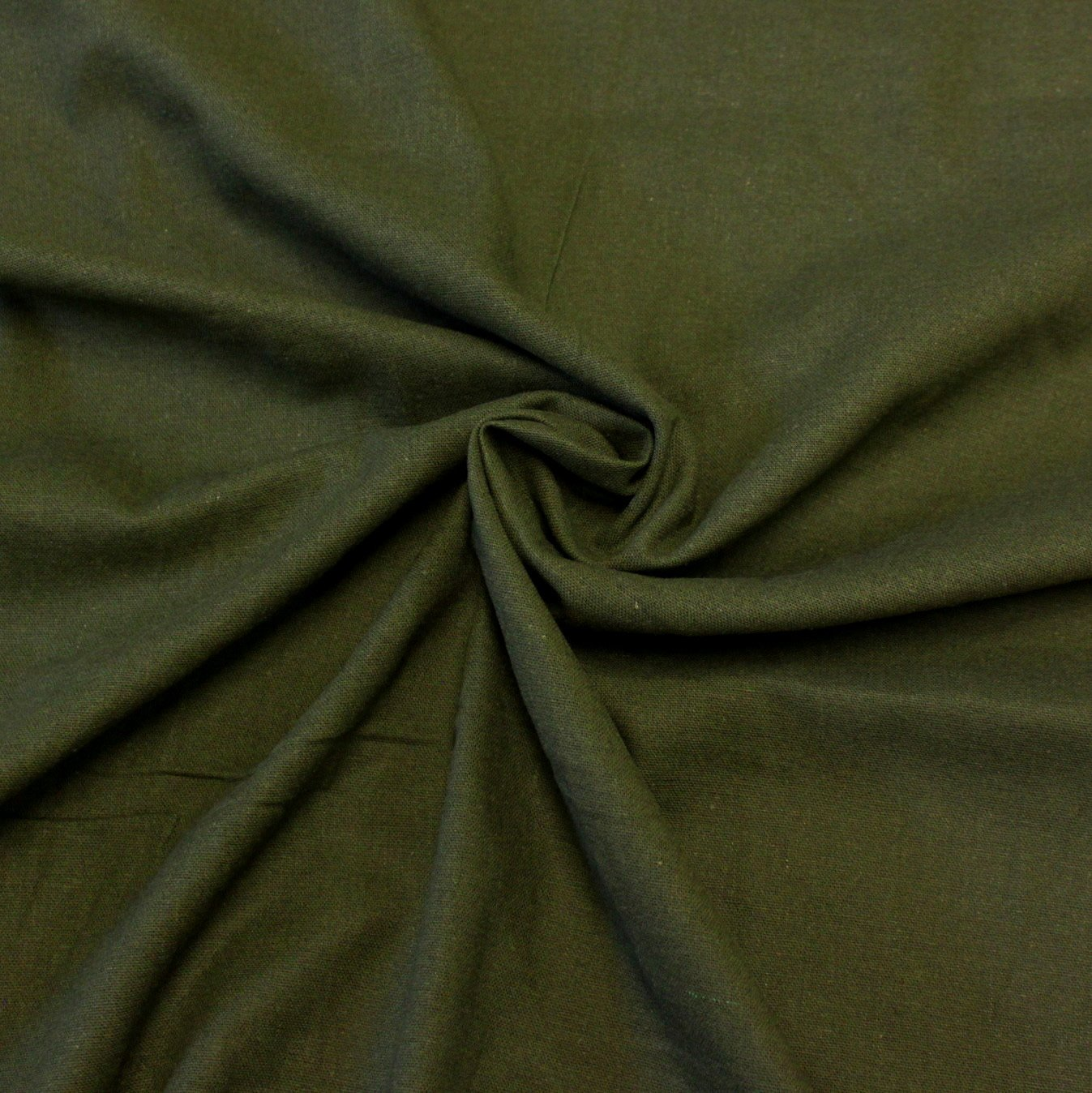 Olive Green Medium Weight Rayon Linen - Raspberry Creek Fabrics Knit Fabric