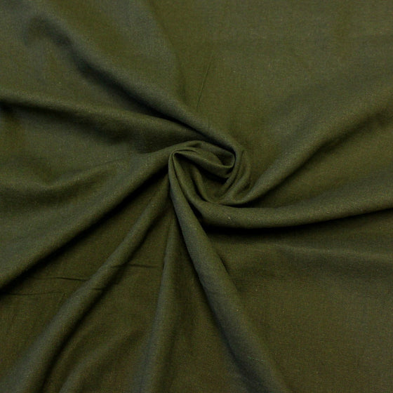 Olive Green Medium Weight Rayon Linen - Raspberry Creek Fabrics