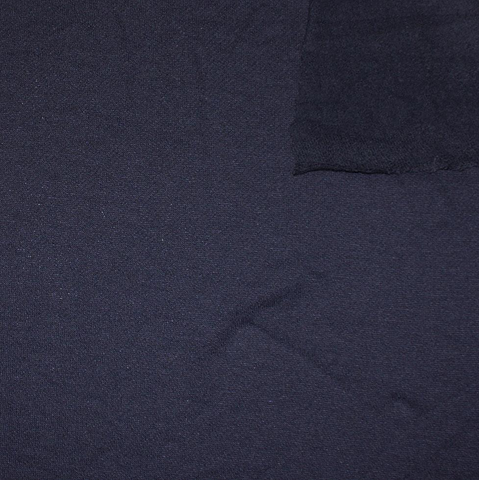 Solid Navy Brushed French Terry Knit Fabric - Raspberry Creek Fabrics Knit Fabric