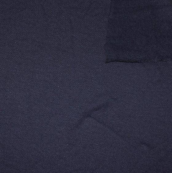 Solid Navy Brushed French Terry Knit Fabric - Raspberry Creek Fabrics