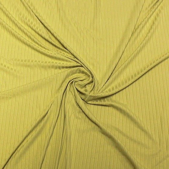 Solid Avocado Green Poly Spandex 4 Way Stretch 8x3 Rib Knit - Raspberry Creek Fabrics