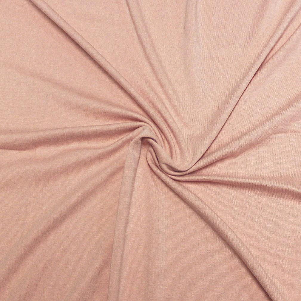 Dusty Pink Bamboo Cotton Spandex 4 Way Stretch 1x1 Ribbing - Raspberry Creek Fabrics