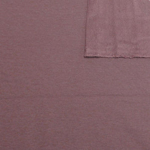 Deep Mauve Bamboo Cotton Spandex 4 Way Stretch Sweatshirt Fleece - Raspberry Creek Fabrics Knit Fabric