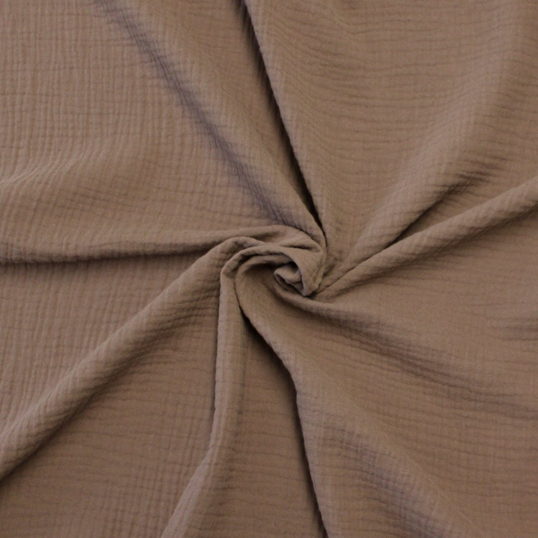 Milk Chocolate Brown Woven Cotton Light Weight Double Gauze Fabric Raspberry Creek Fabrics