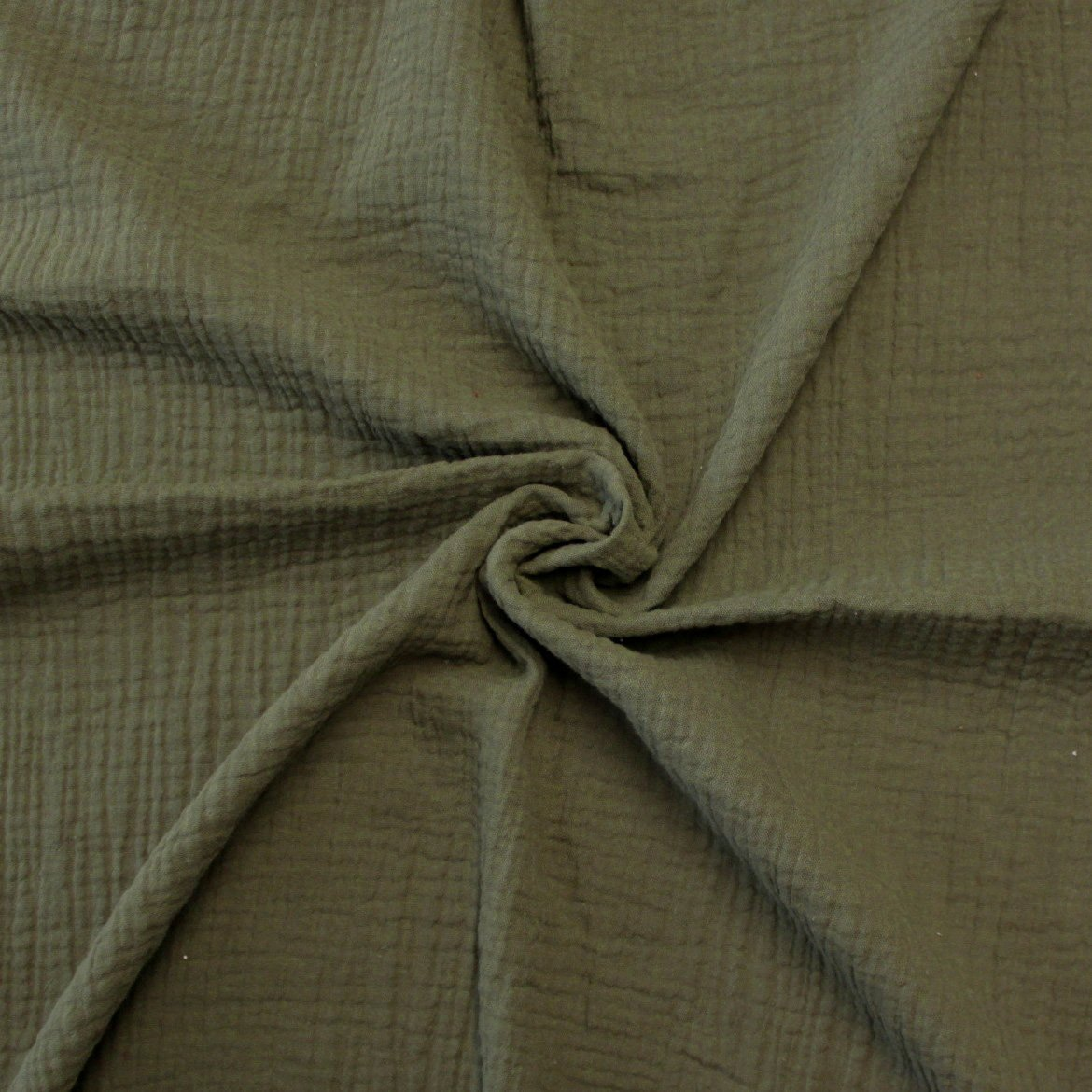 Olive Green Woven Cotton Light Weight Double Gauze Fabric Raspberry Creek Fabrics