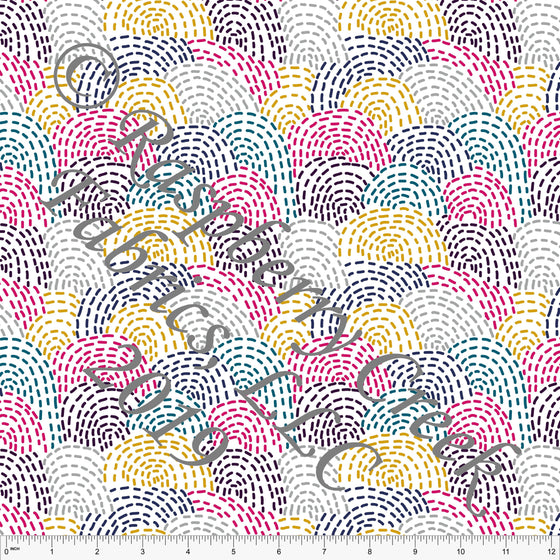 Fuchsia Mustard Teal Navy and Eggplant Deconstructed Rainbows By Brittney Laidlaw for Club Fabrics - Raspberry Creek Fabrics