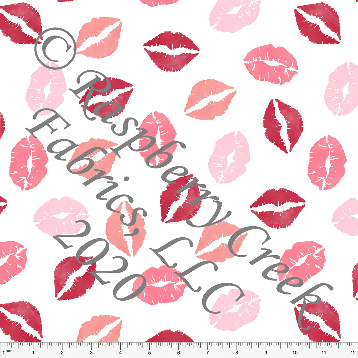 Pink Coral and Salmon Lips, By Brittney Laidlaw for Club Fabrics - Raspberry Creek Fabrics
