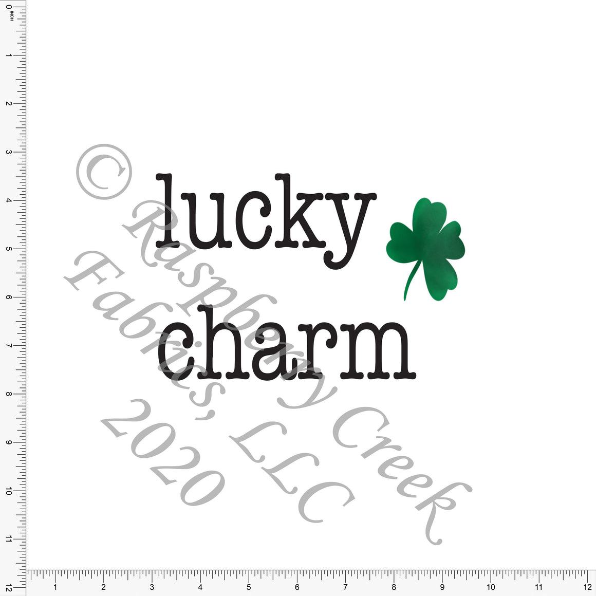 Kelly Green and Black Shamrock Lucky Charm Panel, By Kelsey Shaw for Club Fabrics CLUB