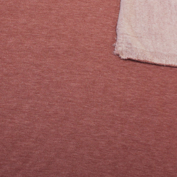 Light Burgundy Marsala French Terry Fleece Sweatshirt Knit Fabric, 1 Yard - Raspberry Creek Fabrics