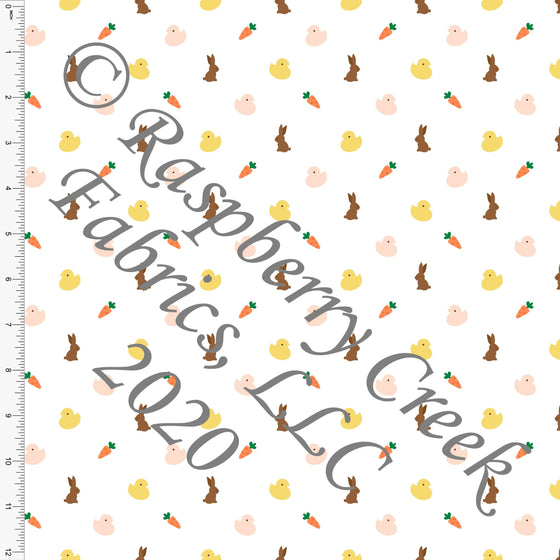 Peach Yellow Orange Brown and Green Mini Easter Treats, By Bri Powell for Club Fabrics CLUB