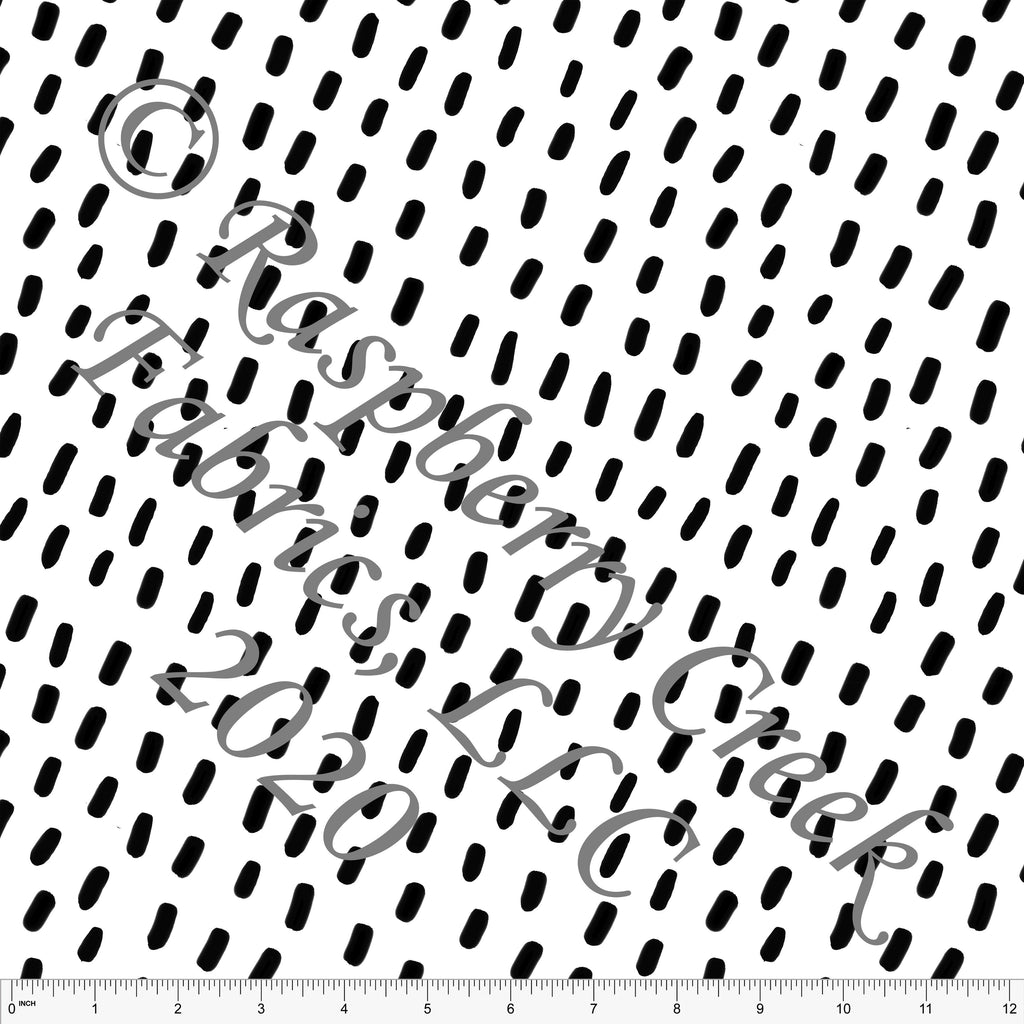 Black and White Minimal Diagonal Dashes, Minimal 2.0 by Brittney Laidlaw for Club Fabrics - Raspberry Creek Fabrics