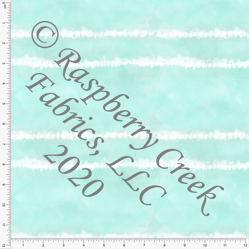 Tonal Mint and White Tie Dye Stripe, Club Fabrics - Raspberry Creek Fabrics