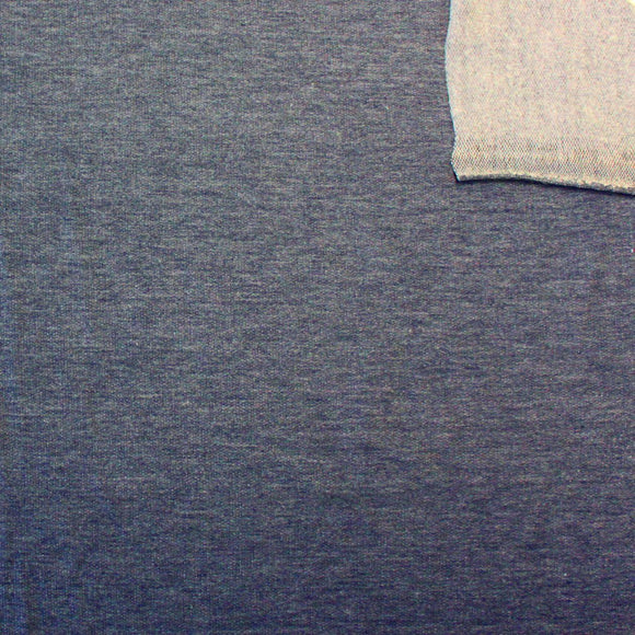 Navy Blue French Terry Fleece Sweatshirt Knit Fabric, 1 Yard