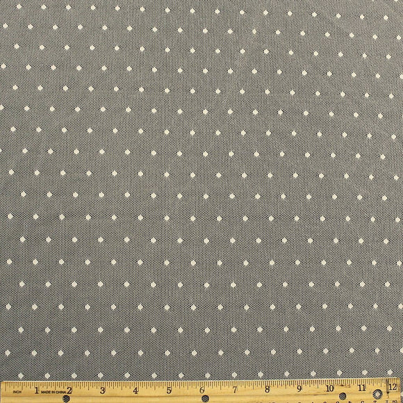 Cream Nylon Polka Dot Stretch Mesh - Raspberry Creek Fabrics