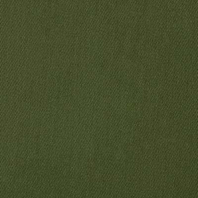 Solid Olive Green Rayon Nylon Spandex Stretch Twill
