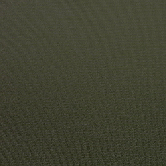 Olive Green Ponte De Roma Knit Fabric, 1 yard - Raspberry Creek Fabrics