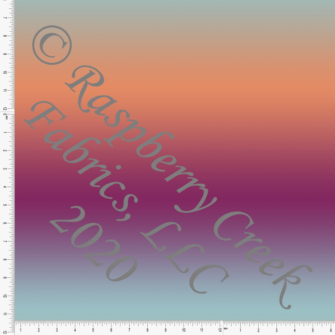 Aqua Blue Orange and Magenta Large Ombre Print 4 Way Stretch MATTE SWIM Knit Fabric, Club Fabrics - Raspberry Creek Fabrics