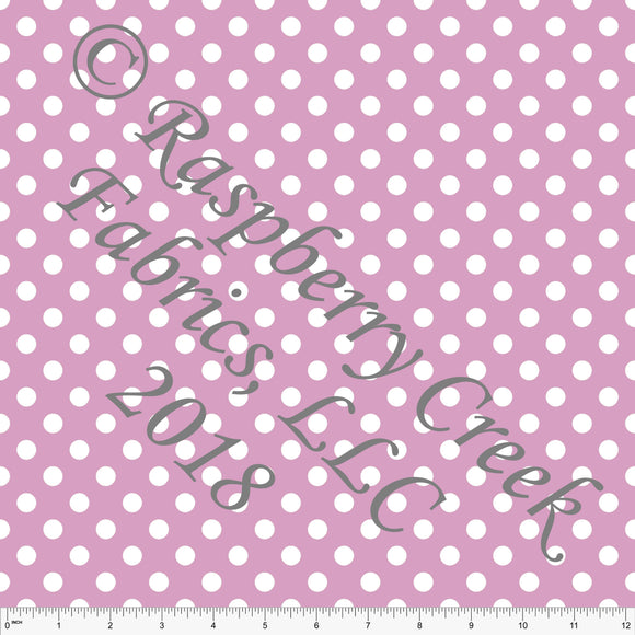 Pink and White Polka Dot 4 Way Stretch MATTE SWIM Knit Fabric, Club Fabrics