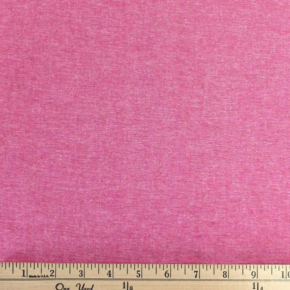 Paradise Pink Medium Weight Chambray, 1 Yard - Raspberry Creek Fabrics