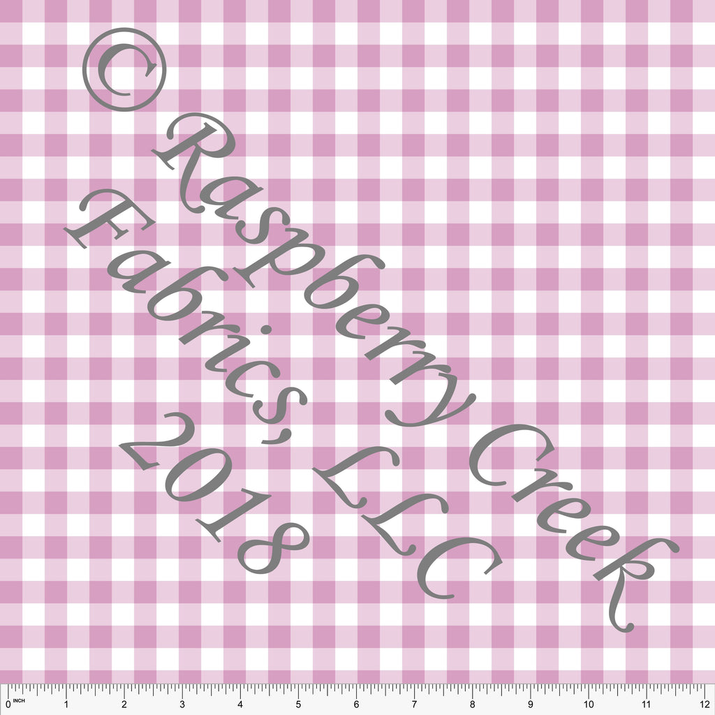 Pink and White Check Gingham 4 Way Stretch MATTE SWIM Knit Fabric, Club Fabrics