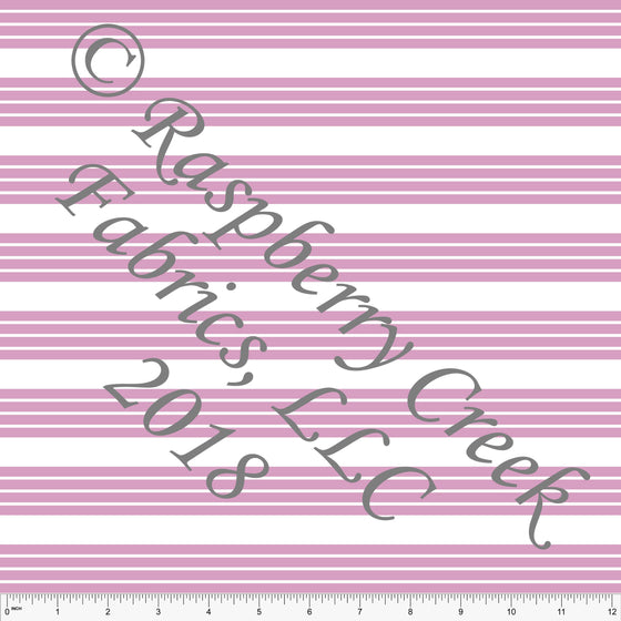 Pink and White Stripe 4 Way Stretch MATTE SWIM Knit Fabric, Club Fabrics