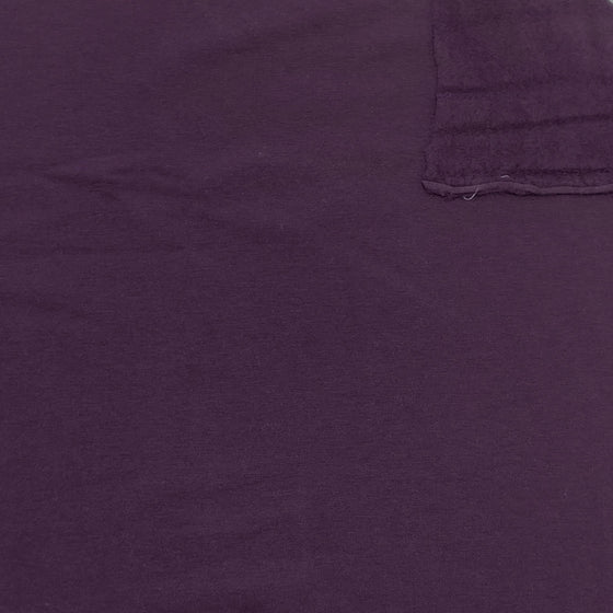 Plum Purple Lyocell Organic Cotton Spandex 4 Way Stretch Sweatshirt Fleece, 1 Yard