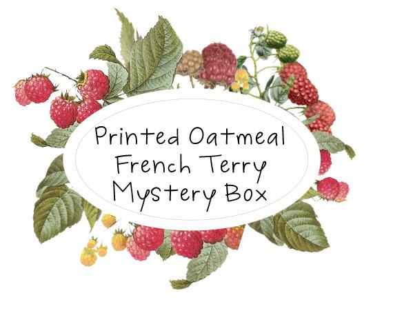 Printed Oatmeal French Terry Mystery Box - Raspberry Creek Fabrics