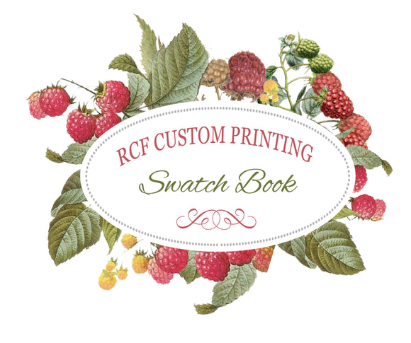 Custom Printing Base Fabric Swatch Book - Raspberry Creek Fabrics