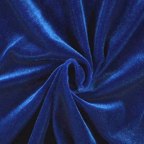Deep Royal Blue Stretch Velvet Knit, 1 yard