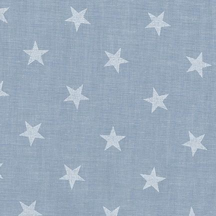 Denim and White Star Chambray, Sevenberry Classiques Collection by Robert Kaufman, 1 Yard - Raspberry Creek Fabrics