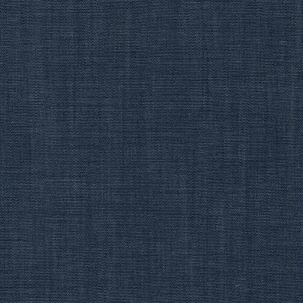 Santa Barbara Dark Indigo Tencel Chambray, House of Denim Collection by Robert Kaufman - Raspberry Creek Fabrics
