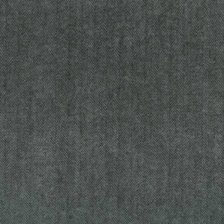 Grey and Black Two Tone Herringbone Robert Kaufman Shetland Flannel, 1 Yard