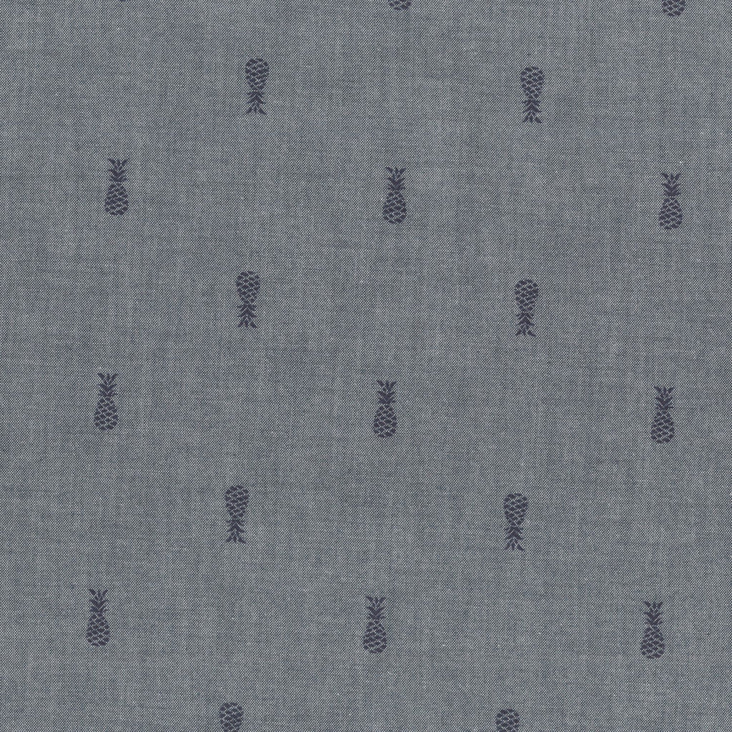 Indigo and Navy Pineapple Chambray, Chambray BLVD 2 Collection by Robert Kaufman, 1 Yard
