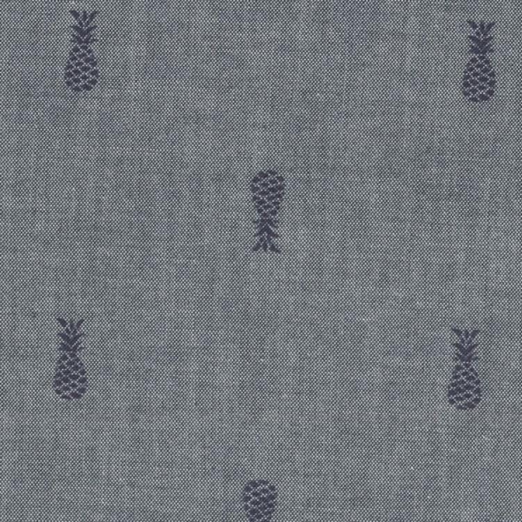 Indigo and Navy Pineapple Chambray, Chambray BLVD 2 Collection by Robert Kaufman, 1 Yard - Raspberry Creek Fabrics